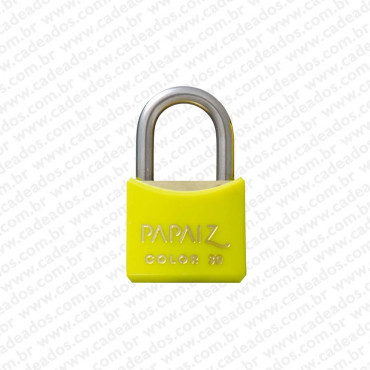 Cadeado Papaiz Color Amarelo 30 mm
