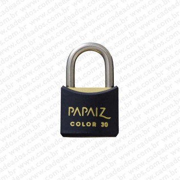 Cadeado Papaiz Color Preto 30 mm
