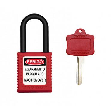 Cadeado Tagout Plástico 40mm Vermelho