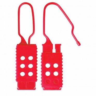 """Garra Master Lock Plastica 1"""" Vermelho"""